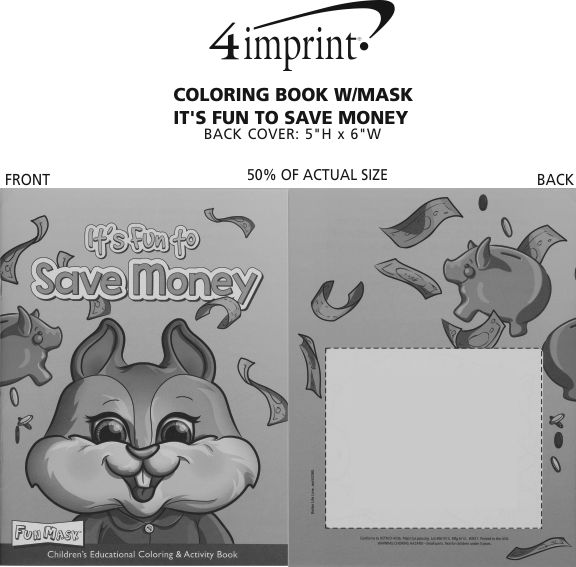 Imprint Area of Coloring Book with Mask - It's Fun to Save Money