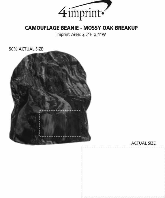 Imprint Area of Camouflage Beanie - Mossy Oak Break-Up