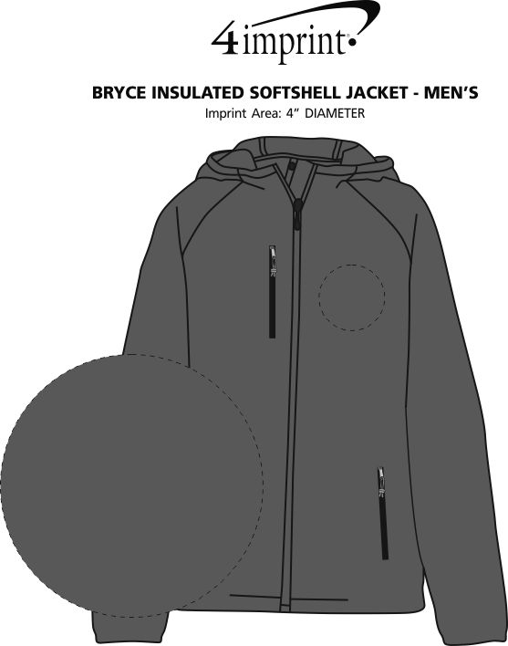 Imprint Area of Bryce Insulated Soft Shell Jacket - Men's