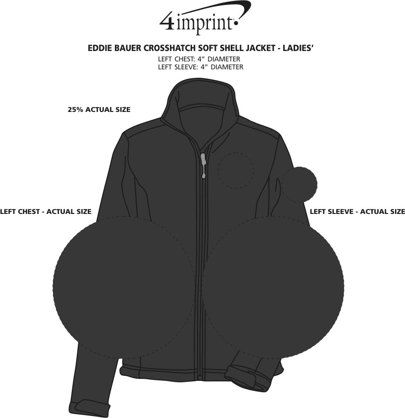 Imprint Area of Eddie Bauer Crosshatch Soft Shell Jacket - Ladies'