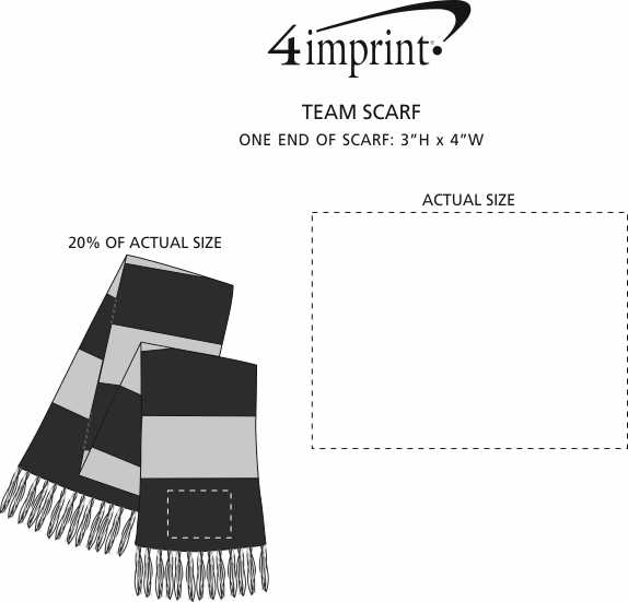 Imprint Area of Team Scarf