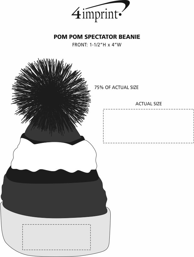 Imprint Area of Pom Pom Spectator Beanie