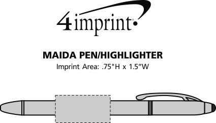 Imprint Area of Maida Stylus Pen/Highlighter