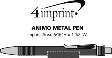 Imprint Area of Animo Metal Pen