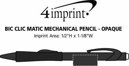 Imprint Area of Bic Clic Matic Mechanical Pencil - Opaque