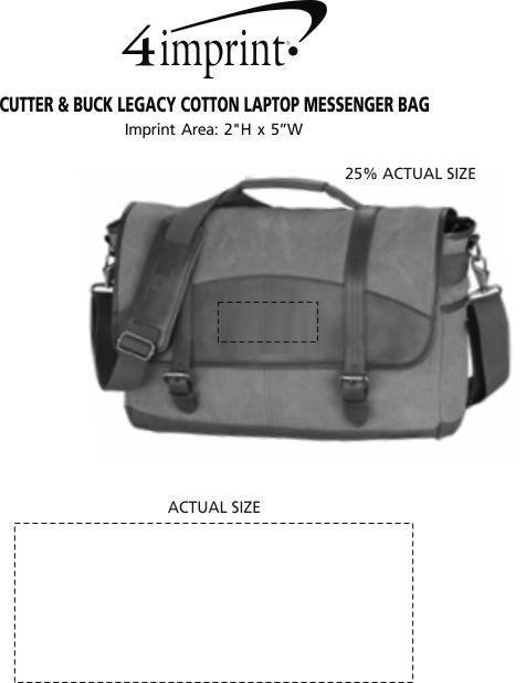 Imprint Area of Cutter & Buck Legacy Cotton Laptop Messenger Bag