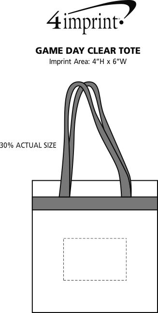 Imprint Area of Game Day Clear Tote