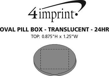 Imprint Area of Oval Pill Box - Translucent - 24 hr