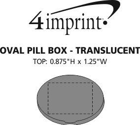 Imprint Area of Oval Pill Box - Translucent