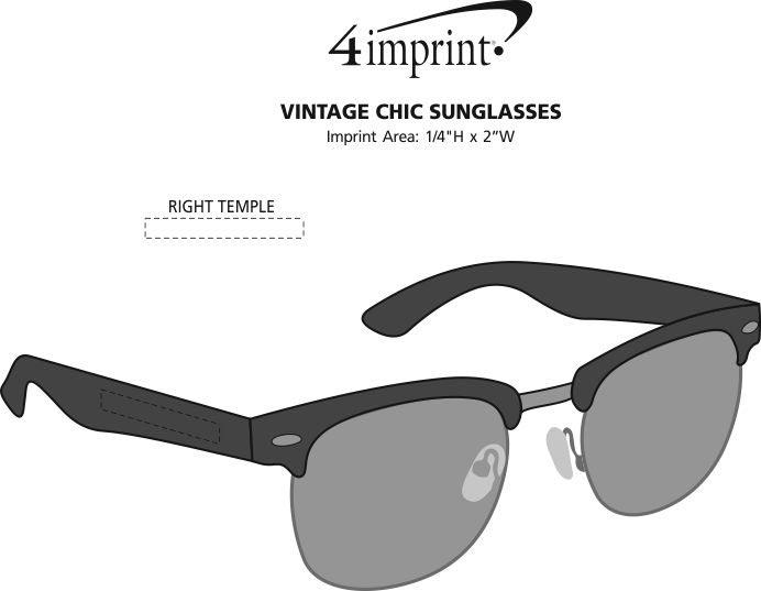 Imprint Area of Vintage Chic Sunglasses