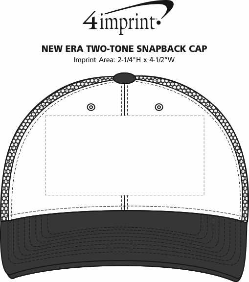 Imprint Area of New Era Two-Tone Snapback Cap