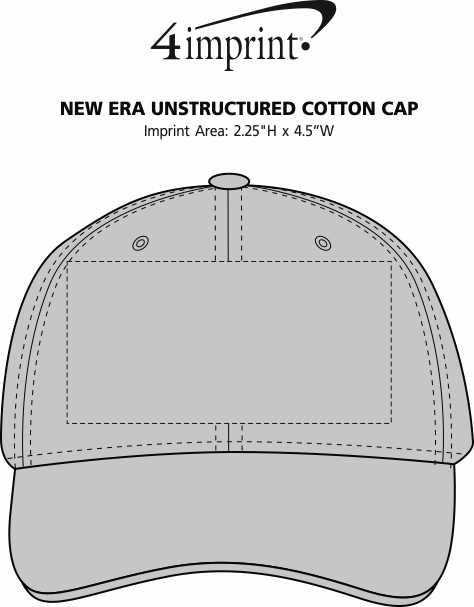 Imprint Area of New Era Unstructured Cotton Cap