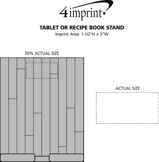 Imprint Area of Tablet or Recipe Book Stand