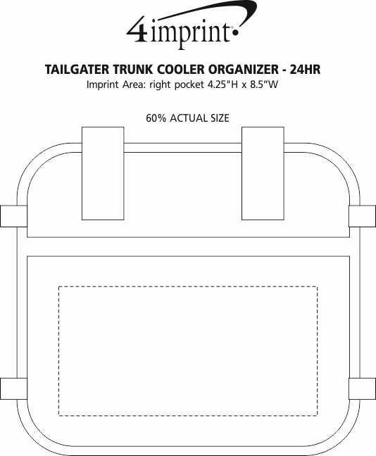 Imprint Area of Tailgater Trunk Cooler Organizer - 24 hr