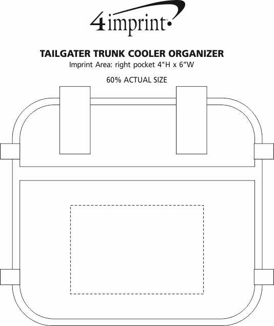 Imprint Area of Tailgater Trunk Cooler Organizer