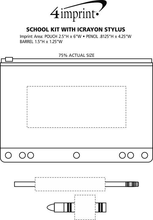 Imprint Area of School Kit with iCrayon Stylus