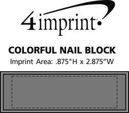 Imprint Area of Colorful Nail Block