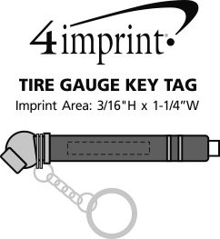 Imprint Area of Tire Gauge Keychain