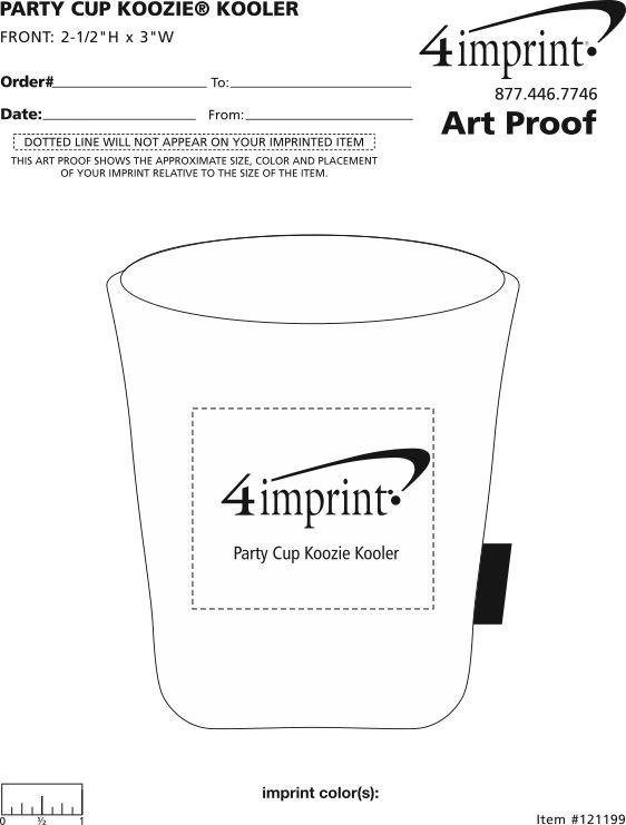 Imprint Area of Party Cup Koozie® Kooler