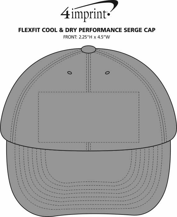 Imprint Area of Flexfit Cool & Dry Performance Serge Cap