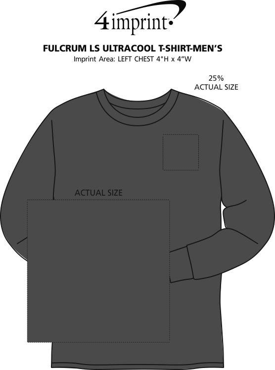 Imprint Area of Fulcrum LS UltraCool T-Shirt - Men's