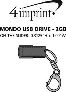 Imprint Area of Mondo USB Drive - 2GB