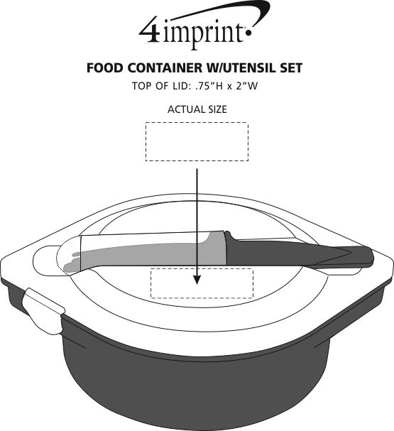 Imprint Area of Food Container with Cutlery Set
