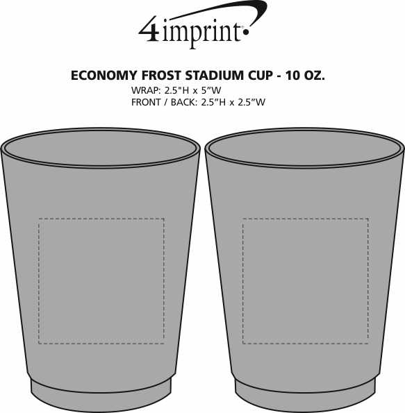 Imprint Area of Frost Flex Cup - 10 oz.