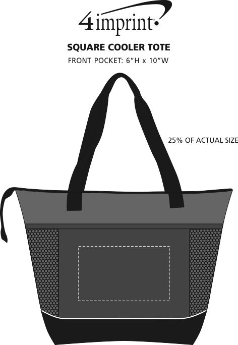 Imprint Area of Square Cooler Tote