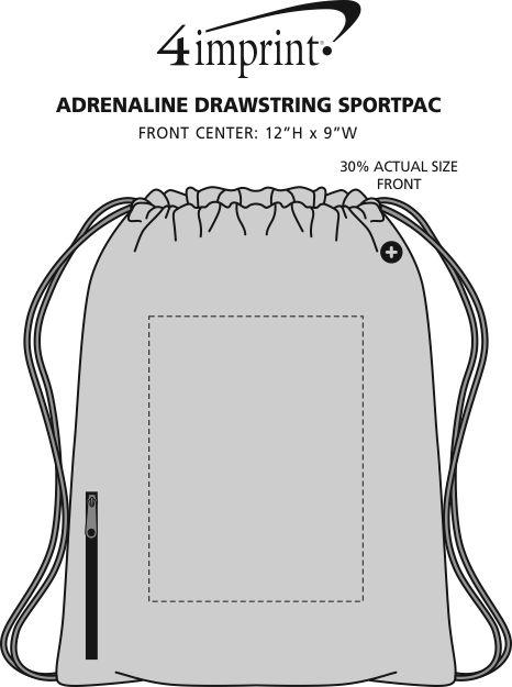 Imprint Area of Adrenaline Drawstring Sportpack