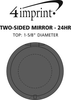 Imprint Area of Two-Sided Mirror - 24 hr