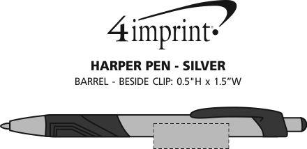 Imprint Area of Harper Pen - Silver