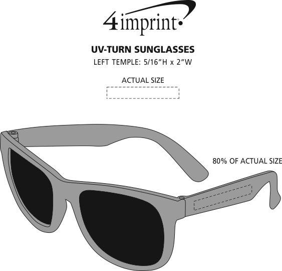 Imprint Area of UV-Turn Sunglasses