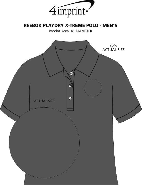 Imprint Area of Reebok Playdry X-Treme Polo - Men's