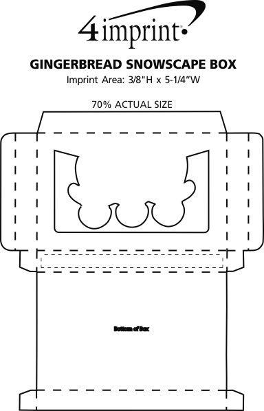 Imprint Area of Gingerbread Snowscape Box