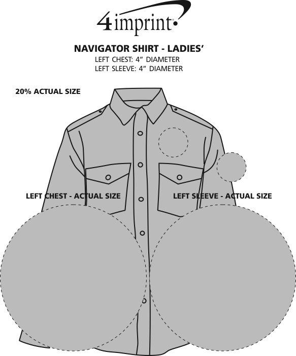 Imprint Area of Navigator Shirt - Ladies'