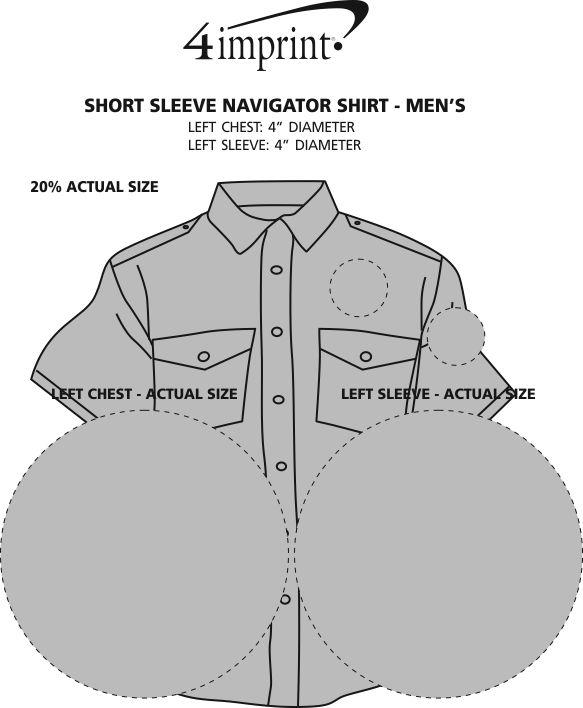 Imprint Area of Navigator Short Sleeve Shirt - Men's