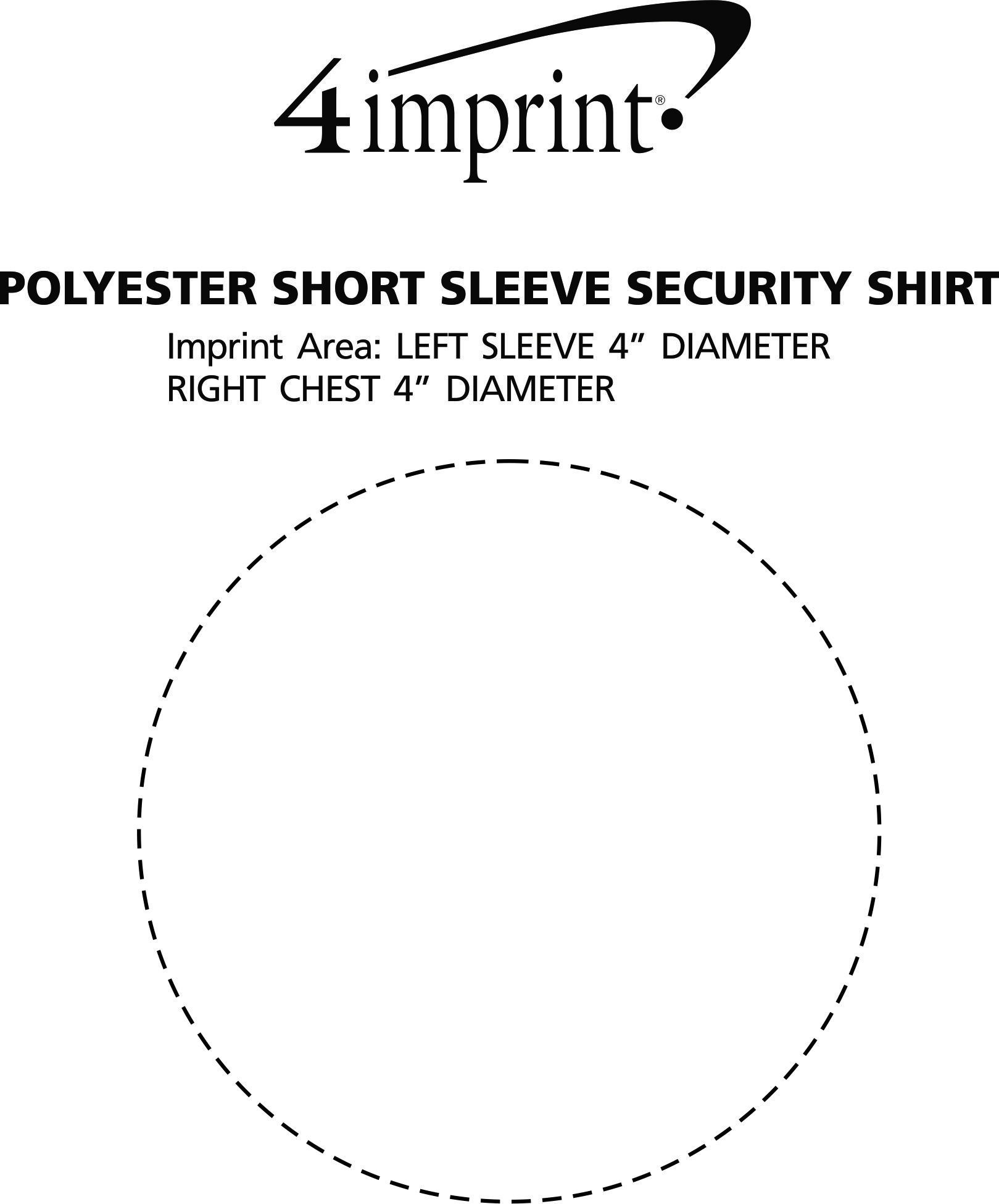 Imprint Area of Poly/Cotton Short Sleeve Security Shirt