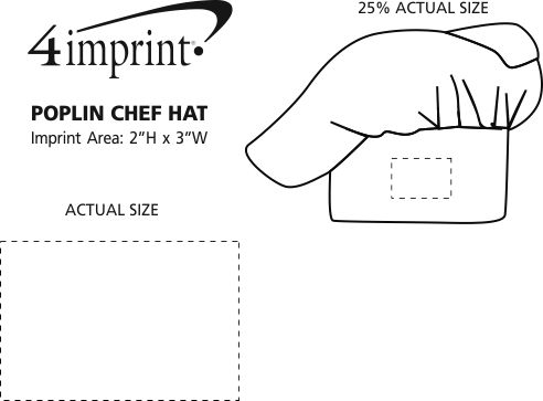 Imprint Area of Poplin Chef Hat