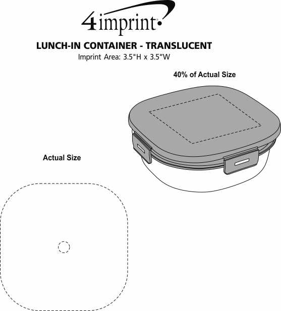 Imprint Area of Lunch-In Container - Translucent