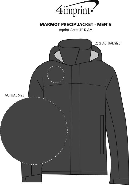 Imprint Area of Marmot PreCip Jacket - Men's