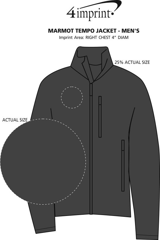 Imprint Area of Marmot Tempo Jacket - Men's