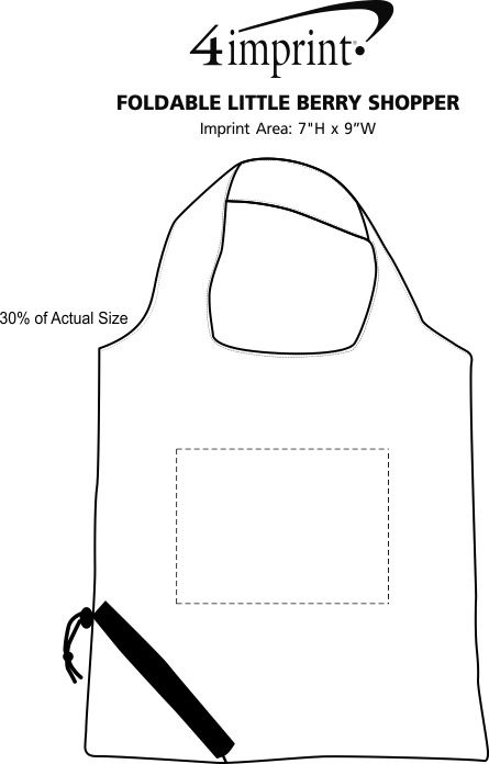 Imprint Area of Featherweight Packable Tote
