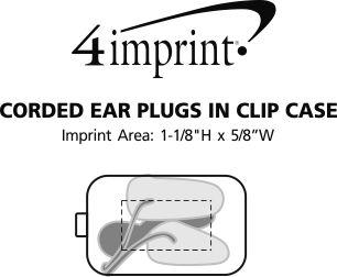 Imprint Area of Corded Ear Plugs in Clip Case