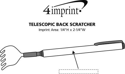 Imprint Area of Telescopic Back Scratcher