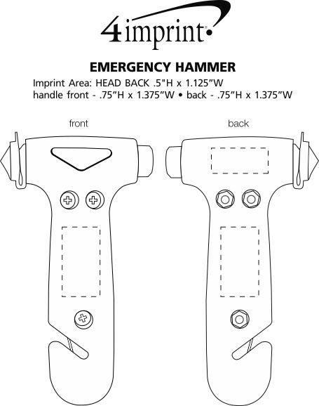 Imprint Area of Emergency Hammer