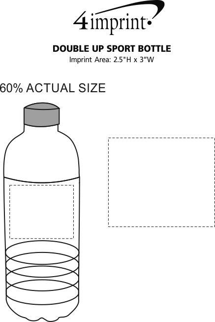 Imprint Area of Double Up Sport Bottle - 20 oz.