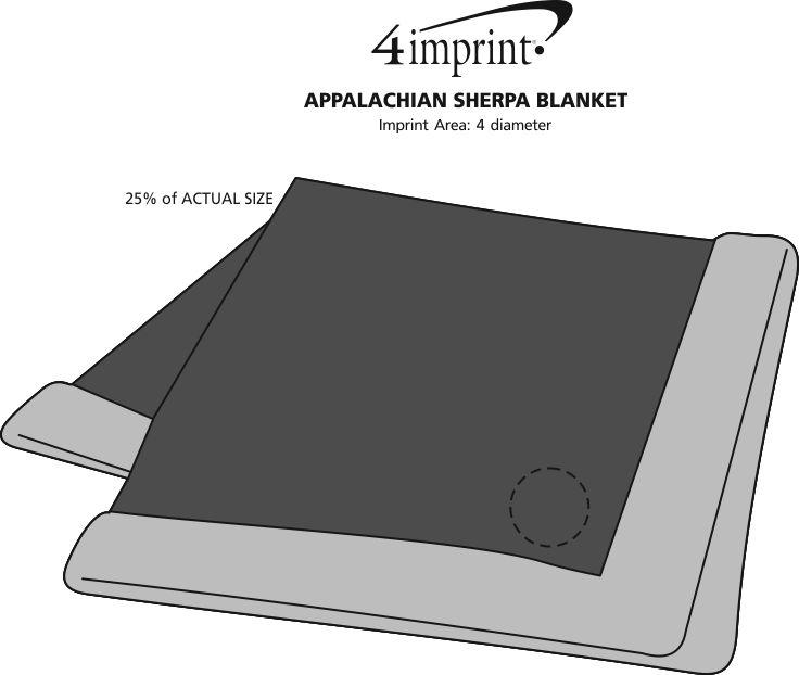 Imprint Area of Appalachian Sherpa Blanket