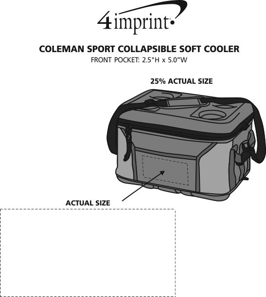 Imprint Area of Coleman Sport Collapsible Soft Cooler