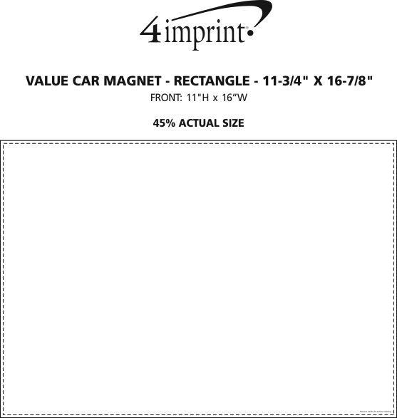 """Imprint Area of Magnetic Car Sign - Rectangle - 11-3/4"""" x 16-7/8"""""""